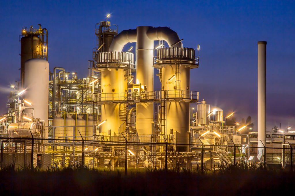Fabryka wykorzystująca elementy gumowe
